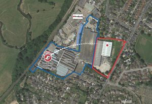 Axminster site aerial - loom move
